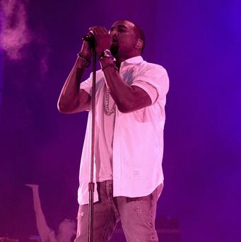 Kanye West was performing at the Big Chill at Eastnor Castle Deer Park in Herefordshire