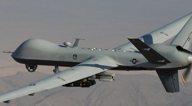 Twenty militants have been killed in a US drone attack near the Afghan border (AP)