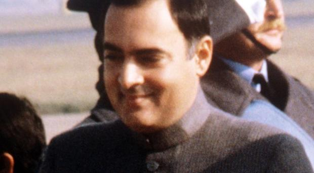 Mercy petitions by three men sentenced to death for the assassination of Rajiv Gandhi, pictured, have been rejected
