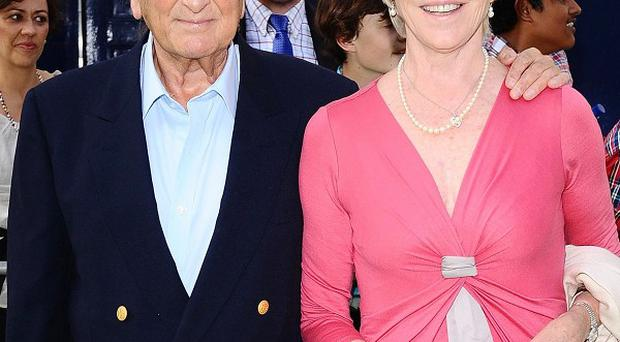 Michael Winner and Geraldine Lynton-Edwards are due to marry next month