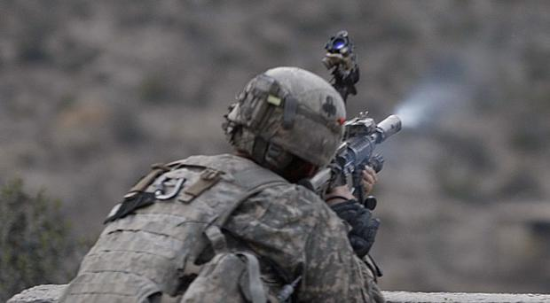 So far this year, 377 American and other Nato service members have died in the war in Afghanistan (AP)