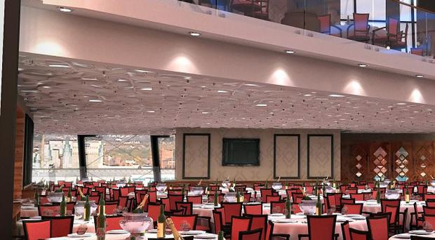 The Titanic Suite is a 1,000 seat banqueting venue at Titanic Belfast