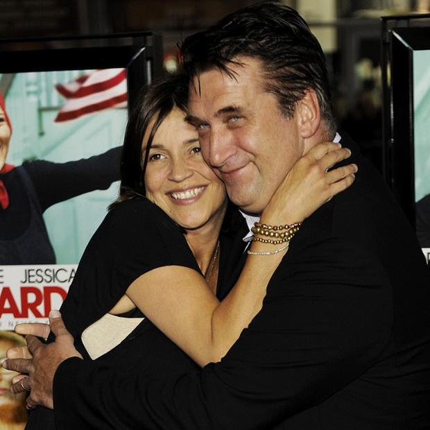 Daniel Baldwin poses with his wife Joanne (AP)