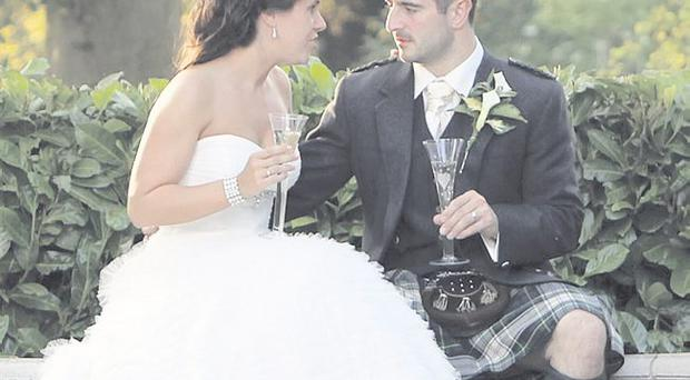 The wedding of Stephanie Campbell and Andrew Todd on July 2 <p><b>To send us your Wedding Pics <a href=