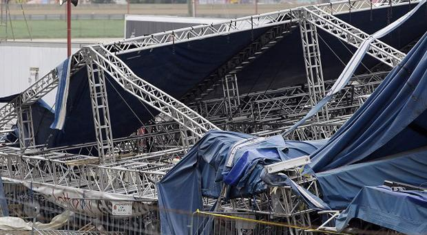 Five people died when stage collapsed at the Indiana State Fair in Indianapolis (AP)