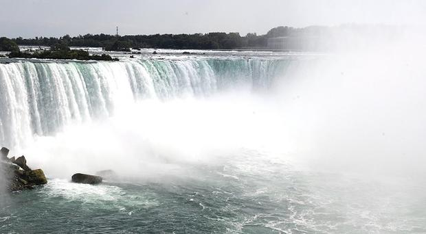 The Horseshoe falls, part of Niagara Falls in Ontario, Canada, where a woman fell to her death