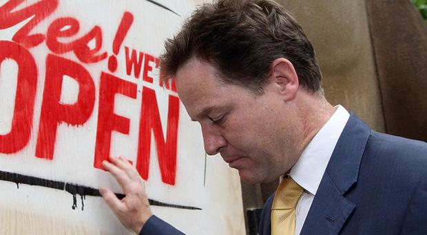 Rioters will be forced to help clean up the areas they have damaged, Deputy Prime Minister Nick Clegg will say