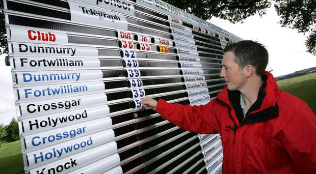 Teams will be hoping to rise to the top of the scoreboard in the Belfast Telegraph Foursomes competition