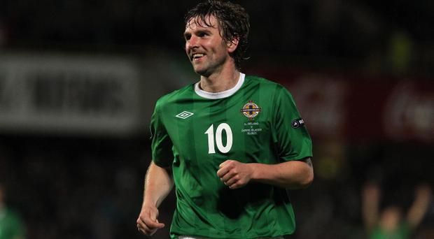 Paddy McCourt savours scoring for Northern Ireland against the Faroe Islands