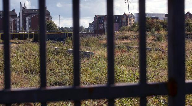 Wasteland: the former Sirocco Works in Belfast is a sorry sight in a city where poet Ciaran Carson bemoans 'no-go' areas