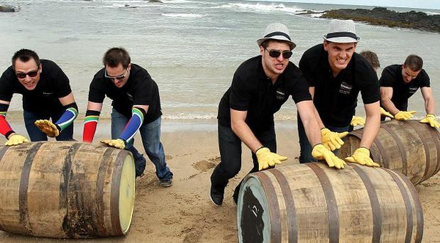 Contestants from Germany, South Africa and the Czech Republic compete to win the international Bushmills challenge