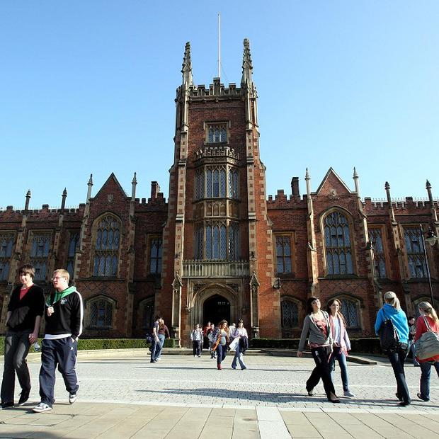 Many students at St Joseph's College in Belfast have set their sights on attending Queen's University