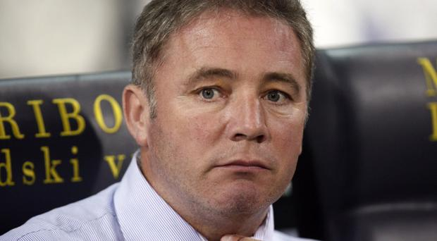 Rangers manager Ally McCoist speaks to the press after last night's defeat by Maribor