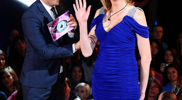 Sally Bercow is greeted by presenter Brian Dowling as she prepares to enter the Celebrity Big Brother house (Ian West/PA Wire)