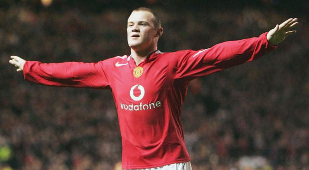 <b>Wayne Rooney </b><br/> MANCHESTER UNITED v Fenerbahce, 2004 The England striker's debut for Manchester United had been delayed following injury at Euro 2004, but it was well worth the wait. It was in the Champions League that the Old Trafford crowd got their first look at the 18-year-old as he scored an unforgettable hat-trick in a 6-2 thrashing of Fenerbahce.