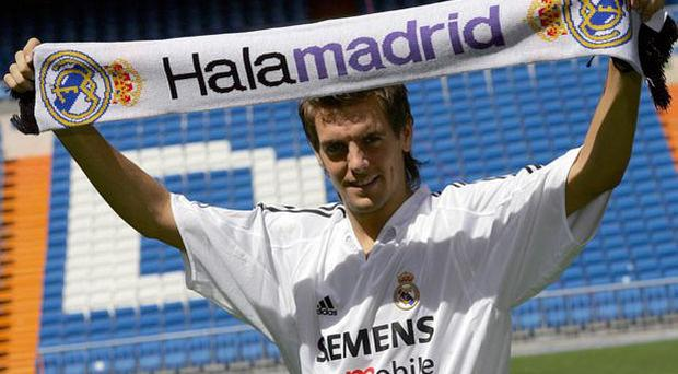 <b>Jonathan Woodgate, Real Madrid v Atletic Bilbao (2005)</b><br/> Woodgate, now of Stoke city, was able to add 'pride' to his long list of injuries, after his Real Madrid debut saw him head past his own keeper and sent-off for two bookable offences; the first for a lunge at Bilbao midfielder Carlos Gurpegi, the second a somewhat more innocuous challenge on Etxeberria. Diplomatic in the face of disaster, Woodgate acknowledged that: