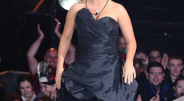 Kerry Katona prepares to enter the Celebrity Big Brother house in Elstree, London