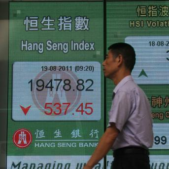 World stock markets were lower amid signs of a possible US recession (AP)