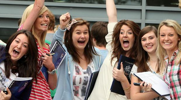 Ballymena Academy students celebrate their A-level results