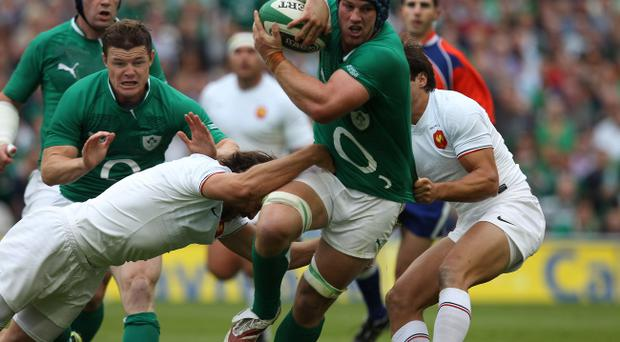 Ireland's Sean O'Brien on the charge