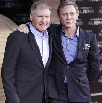 Daniel Craig was a little starstruck working with Harrison Ford
