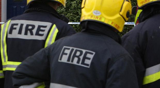Arsonists have set fire to a car outside a house in Londonderry