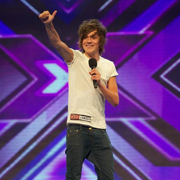 Frankie Cocozza apologised for flashing his bottom