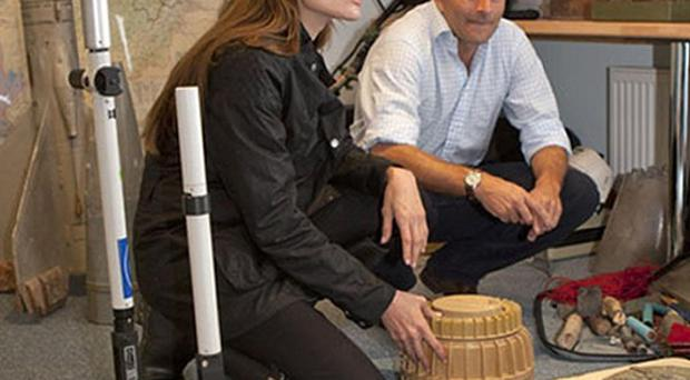 Angelina Jolie meets Guy Willoughby, co-founder and director of the Halo Trust