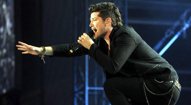 Danny O'Donoghue from the Script onstage at Tennents Vital
