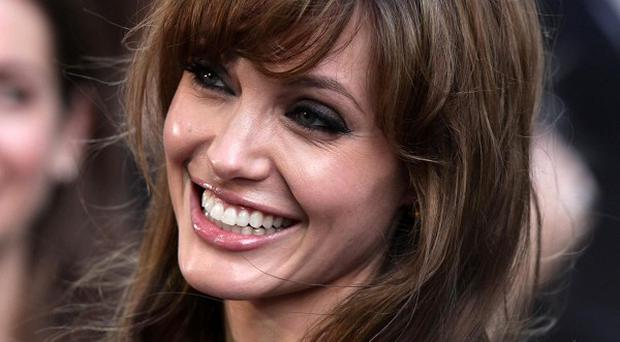 Angelina Jolie has visited the Halo charity in Scotland