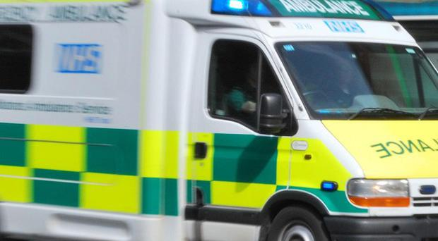 A 12-year-old boy was rushed to hospital after falling from a ride at a Lancashire theme park