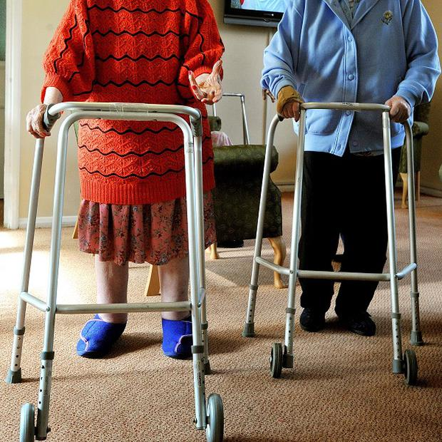 Up to 500 nursing jobs are waiting to be filled in care homes for the elderly, it has been claimed