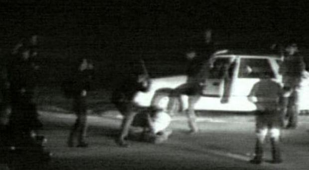 Rodney King attacked in 1991. The attack that led to city-wide riots
