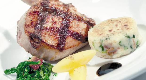 Chargrilled Northern Ireland pork cutlet