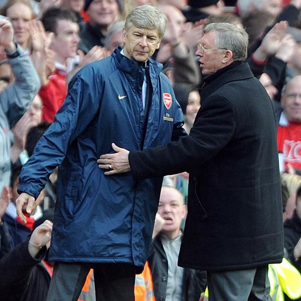 Sir Alex Ferguson (right) and Arsene Wenger