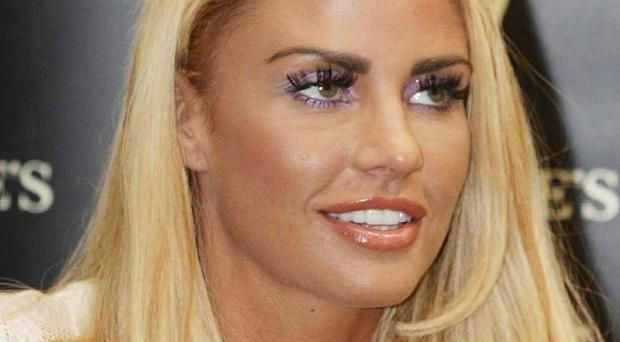 Katie Price has promised she has a 'great tiny' outfit to wear for the launch of her new magazine