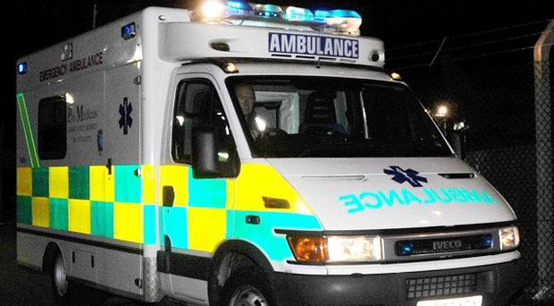 A 26-year-old man is in hospital suffering from head injuries after falling 60 feet down a cliff in the dark