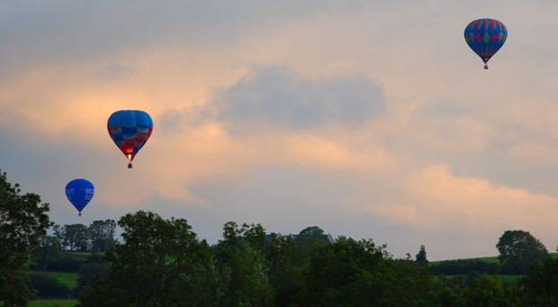 Balloons from the festival spotted in the the Moira countryside. Photograph by Belfast Telegraph reader Sarah Matthews.