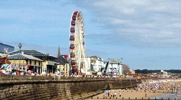 A grandmother lost her leg when she and her granddaughter were thrown from a log flume in Bridlington
