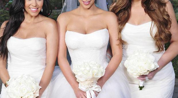 Reality TV star Kim Kardashian's recent wedding is featured in the latest edition of Hello! magazine