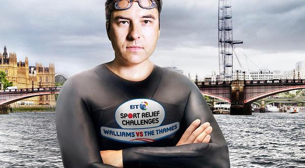 David Walliams will raise money for Sport Relief by swimming the entire length of the Thames