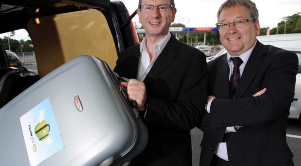 David Rogers, managing director of Speedlink and Bert Moore, Speedlink's group managing director based in the Dublin Operation.