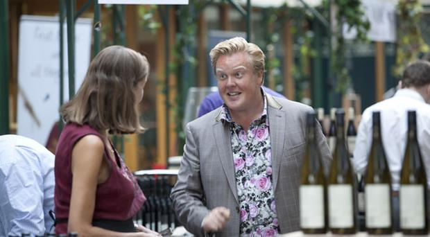 TV presenter and wine expert Olly Smith in action at the Belfast wine festival