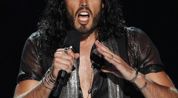 Russell Brand pays tribute to Amy Winehouse at the MTV Video Music Awards (AP)