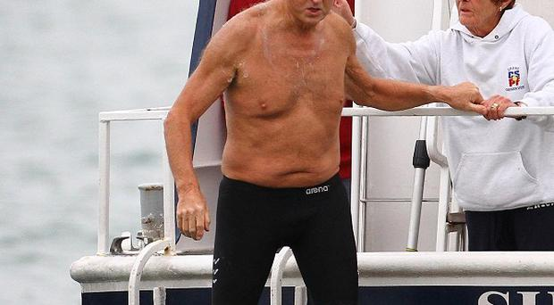Roger Allsopp has claimed the world record for oldest person to swim the English Channel