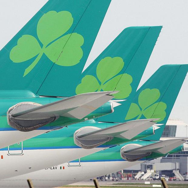 Aer Lingus bosses blamed losses on a cabin crew dispute at the start of the year