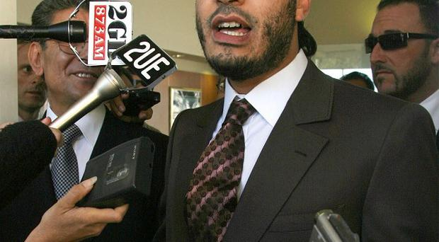 Al-Saadi Gadhafi, third son of the Libyan leade, who has reportedly tried to negotiate a surrender with rebel forces(AP)