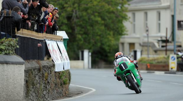 Ryan Farquhar yesterday recorded his eighth win at the Manx Grand Prix