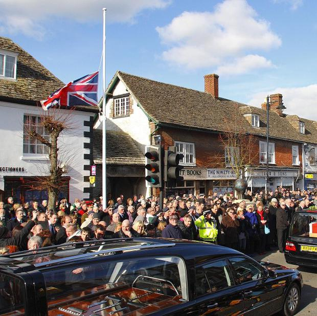 A ceremony has been held in Wootton Bassett marking the end of repatriations