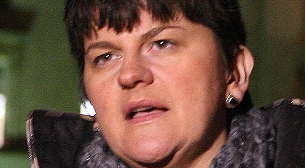 Economy minister Arlene Foster said companies are delaying expansion because of the global recession